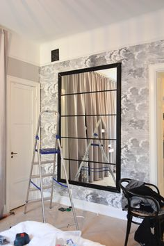 """Receive wonderful tips on """"murphy bed ideas ikea guest rooms"""". They are offered for you on our internet site. Murphy-bett Ikea, Ikea New, Art Deco Room, Room Decor, Art Deco Zimmer, Ikea Mirror Hack, Mirror Over Bed, Diy Room Divider, Diy Interior"""