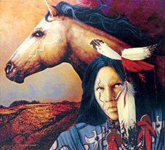 """""""Moon of the Shedding Pony"""" by Jd Challenger, Limited Edition Giclee"""