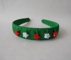 Christmas Holiday Decorated Boutique Woven Headband | RibbonWranglerBoutique - Accessories on ArtFire