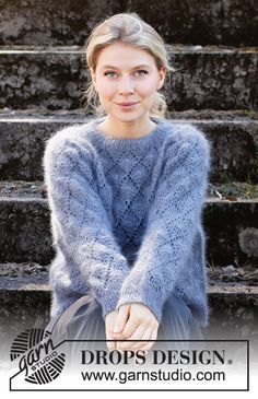 Drops Design, Knitting Patterns Free, Free Knitting, Crochet Patterns, Drops Kid Silk, Knitting Gauge, Crochet Diagram, How To Purl Knit, Work Tops
