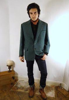 Vintage fitted Harris tweed country blazer  £44.99