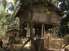 Chin village near Mrauk U Myanmar