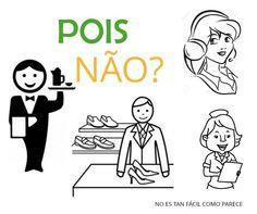 """Pois não es una expresión usada por los brasileños, puede que parezca una expresión negativa, pero significa justo lo contrario, es decir, es una expresión afirmativa. Sería como decir: """"por supuesto"""", """"Claro que sí"""". Cuando estamos en un tienda, en un bar para tomar algo,o en un médico por ejemplo es normal que suelen preguntar Pois não? En ese caso, quiere decir ¿Qué desea?. #portugués #brasil #aprenderportugués #curiosidadesportugués #clasesdeportugues www.noestanfacil.wix.com/brasilpt"""