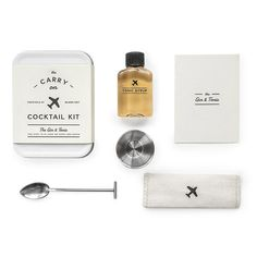 Make it a smooth flight with gin & tonics for two when you carry on this personal cocktail kit. The kit will sail through security and supply you with everything you need to practice your mixology at 30,000 feet.