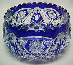 Cut Crystal Glass and Etched