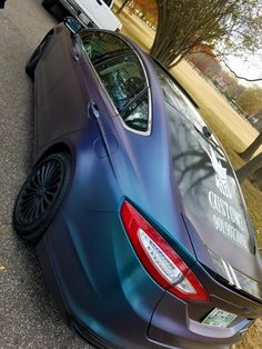 Custom dipped in wormhole colorshift over Arctic Black base. 2016 Ford Fusion #KSILCUSTOMZ