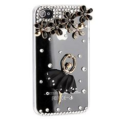 Superior Transparent Crystal Dancing Girl Back Case Cover for iPhone 4/4S/5 - Shining  Crystal iPhone Cases - iPhone Cases