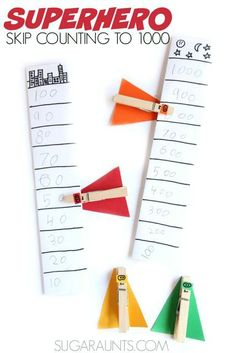 Superhero themed second grade math for place value, addition, and skip counting to 1000.