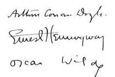 Arthur Conan Doyle - Ernest Hemingway - Oscar Wilde
