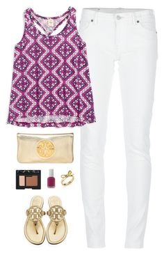 printed purple by classically-preppy on Polyvore featuring Tucker + Tate, Denim & Supply by Ralph Lauren, Tory Burch, Kate Spade, NARS Cosmetics and Essie