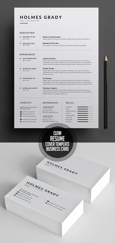 Simple and Clean Resume CV Template #cvresume #resumetemplate #minimalresume #psdresume #psdtemplates