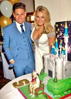 Joey Essex and Sam Faiers Engagement Cake Engagement Cakes, Engagement Parties, Joey Essex, Sam Faiers, Im A Princess, Celebs, Celebrities, The Only Way, Cosmopolitan
