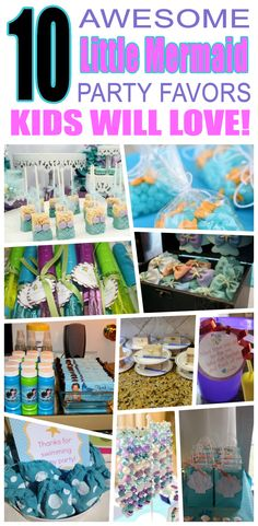 Great little mermaid party favors kids will love. Fun and cool little mermaid birthday party favor ideas for children. Easy goody bags, treat bags, gifts and more for boys and girls. Get the best little mermaid birthday party favors any child would love to take home. Loot bags, loot boxes, goodie bags, candy and more for little mermaid party celebrations.