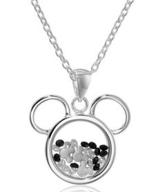Disney Discovery- Silver Plated Mickey Mouse  Shaker Pendant Necklace