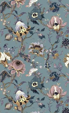 Papier peint Artemis Accent wall in open concept living room Textured Wallpaper, Flower Wallpaper, Wall Wallpaper, Pattern Wallpaper, Wallpaper Backgrounds, Fabric Wallpaper, Motif Floral, Botanical Illustration, Digital Illustration
