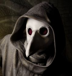 Plague Doctor's mask in white leather @TomBanwell $285 We All Need A Hoby #looksgoodonya
