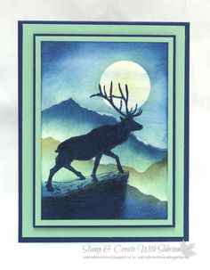 Stamp & Create With Sabrina: Stampin' Up! The Wilderness Awaits - Elk