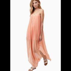 Tobi Sheer Maxi Dress Peach dress! Beautiful back detail! NWT All offers welcome! Tobi Dresses