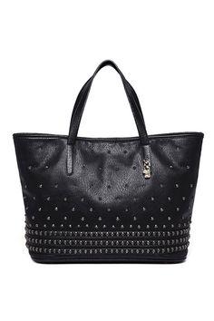 #ROMWE | Big Rivet Black Bag, The Latest Street Fashion