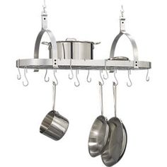 Enclume® Oval Pot Rack in Pot Racks | Crate and Barrel