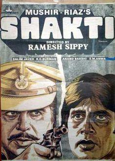 Shakti (1982), Amitabh Bachchan, Classic, Indian, Bollywood, Hindi, Movies, Posters, Hand Painted