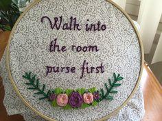 "Ru Paul's Drag Race Season 8 Bob the Drag Queen ""Purse First"" Embroidery"