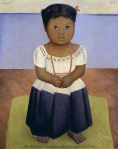 Diego Rivera - Delfina Flores 1927 oil on canvas, McNay Art Museum. Diego Rivera Art, Diego Rivera Frida Kahlo, Frida And Diego, Hispanic Art, Mexican People, Mexican Artists, Native American Artists, Popular Art, Famous Artists