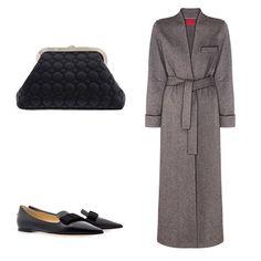 Городская классика: пальто-халат #IzbaRouge, слиперы #JimmyChoo, клатч #Rochas доступны для заказа на AIZEL.RU #aizel #aizelru #новыйсезон #новыеколлекции #shopnow