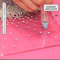 Blingaholic Accessories Diamond Applicator Set allows you to add crystals to embellish any sparkling pattern you want. It fills crystal easily in hard or soft surfaces faster with convenience! Unlike the traditional way of adding crystal, you don't Diy Craft Projects, Diy Home Crafts, Diy Arts And Crafts, Fun Crafts, Sewing Projects, Crafts For Kids, Paper Crafts, Rock Crafts, Homemade Crafts