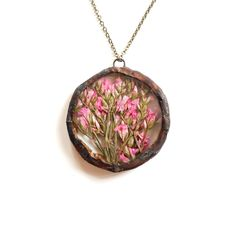 Limonium Circle Necklace Pink