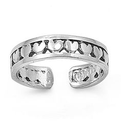 Sterling Silver Repeating Hearts Mid Finger / Knuckle Ring $12.95