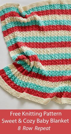Chevron Baby Blankets, Baby Blanket Size, Knitted Baby Blankets, Knit And Crochet Now, Crochet Baby, Easy Blanket Knitting Patterns, Baby Patterns, Stitch Patterns, Free Knitting