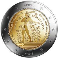 Greece 2 Euro Piece Euro, Euro Coins, Gold Money, Commemorative Coins, World Coins, European History, Coin Collecting, Stock Market, Greece
