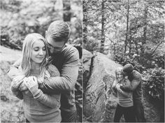 Mcconnell's Mill Engagement session, Oakwood Photo + Video, Pittsburgh Photographer, Fall Engagement Session, Engagement session with dog, engagement session outfit