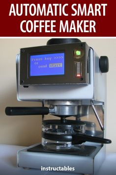 Gyula Osi's Smart automatic coffee maker with graph; it can be controlled via Bluetooth or just load fresh water, and the system will start automatically! #Instructables #electronics #technology #Arduino #smartphone Useful Arduino Projects, Arduino Controller, Elapsed Time, Summer Diy, Coffee Machine, Drip Coffee Maker, Fresh Water, Bluetooth, Smartphone
