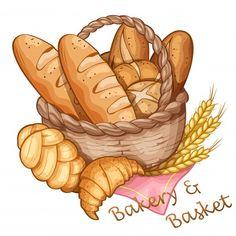Cute Food Art, Cute Art, Food Illustrations, Illustration Art, Etiquette Vintage, Food Sketch, Watercolor Food, Food Painting, Food Drawing