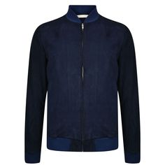 Reindeer Leather Suede Jacket in Navy by Norse Projects