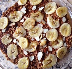 This Healthy Banana Latte Baked Oatmeal is a delicious and tasty morning breakfast on a chilly morning with a cup of coffee!