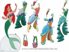 Muñecas recortables Princesas Disney
