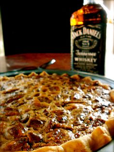 Jack Daniel's Chocolate Chip Pecan Pie, another southern tradition during the holidays, Yummy!!!