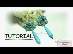 "Tutorial orecchini perline e swarovski ""Narciso"" - DIY earrings - YouTube"