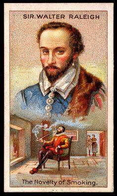 Cigarette Card - Sir Walter Raleigh by cigcardpix, via Flickr