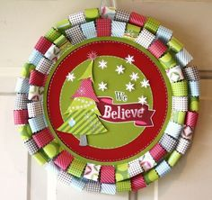 We Believe Holidazzle Wreath Scrapbooking Project Idea from Creative Memories
