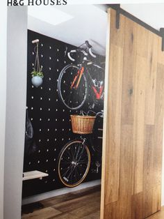 Excellent bike and general storage wall that's full reconfigurable