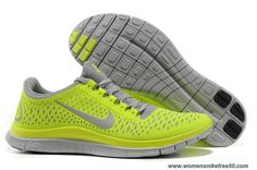 Nike Free 3.0 V4 Wolf Grey Electric Green Volt 511457-007 Mens Outlet