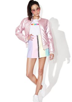Local Heroes Rainbow Neoprene Skirt suggested by Sahara Abdala