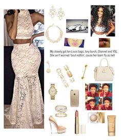 """""""American Music Awards"""" by lovebrezzy ❤ liked on Polyvore featuring beauty, Betsey Johnson, Jane Iredale, H&M, Burberry, NAKAMOL, Forever 21, Tiffany & Co., Michael Kors and Kate Spade"""