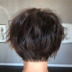 60 Classy Short Haircuts and Hairstyles for Thick Hair Short hair styles, short hairstyles for women, short hairstyle women, short bob hairstyles Short Hairstyles For Thick Hair, Short Pixie Haircuts, Short Hair With Layers, Wavy Hair, Short Hair Cuts, Curly Hair Styles, Layered Hairstyles, Wedding Hairstyles, Casual Hairstyles