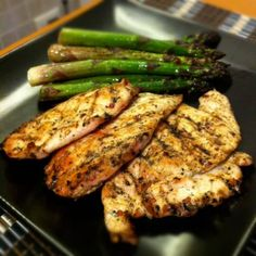 Ingredients:    2 Chicken breasts, sliced thin    1 lb Asparagus    2 tbsp. Extra Virgin Olive oil    1 sprig Rosemary, fresh (removed form stem)    Salt and Pepper to taste    Turn on your grill and let heat. Get your chicken and drizzle 1 tbsp. of olive oil on it, along with the rosemary, salt and pepper. Mix together and let sit.    Get your asparagus and wash, put it in a large saucepan over medium heat and drizzle remaining 1 tbsp. olive oil cover and allow to steam stirring…