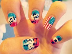 Happy birthday America #july4th #murica #nailart
